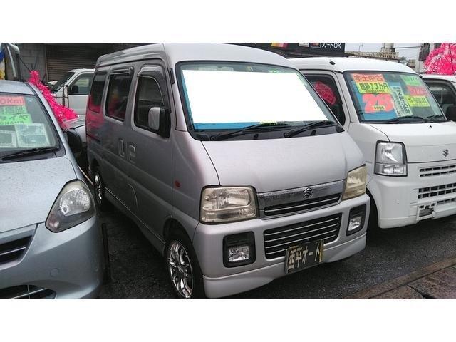 沖縄の中古車 スズキ エブリイワゴン 車両価格 22万円 リ済込 2004(平成16)年 16.7万km シルバーM