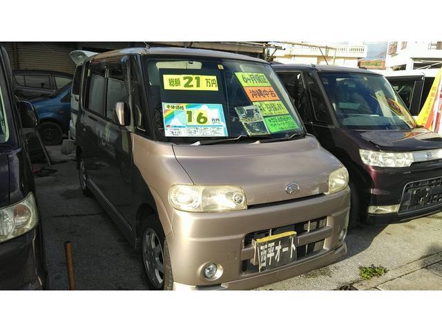 沖縄の中古車 ダイハツ タント 車両価格 14万円 リ済別 2004(平成16)年 9.6万km ベージュ