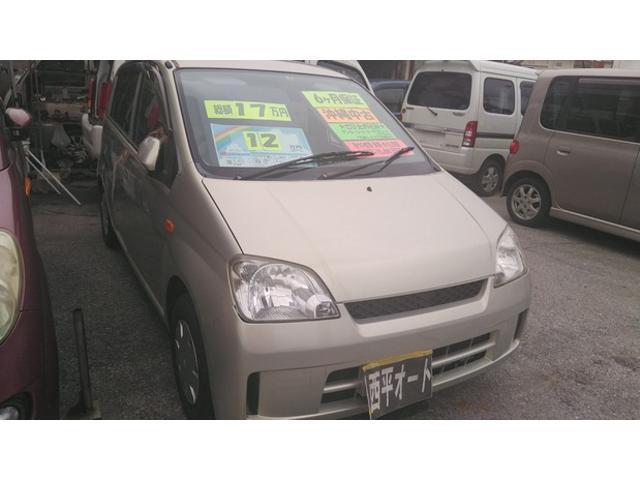 沖縄の中古車 ダイハツ ミラ 車両価格 10万円 リ済込 2005(平成17)年 5.9万km ライトゴールドM