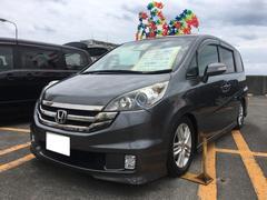 沖縄の中古車 ホンダ ステップワゴン 車両価格 69万円 リ済込 平成20年 12.2万K ポリッシュドメタルメタリック
