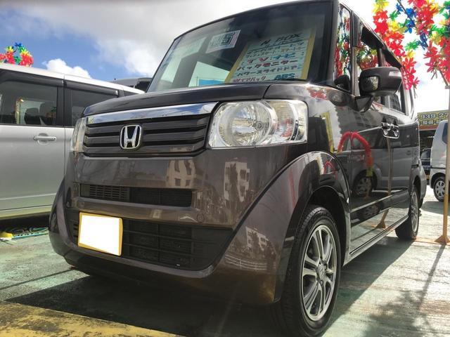 沖縄の中古車 ホンダ N-BOX 車両価格 98万円 リ済込 平成25年 5.9万km ブラウンM