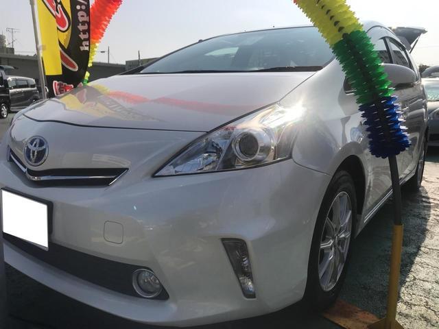 沖縄の中古車 トヨタ プリウスアルファ 車両価格 115万円 リ済込 平成24年 6.3万km パールM