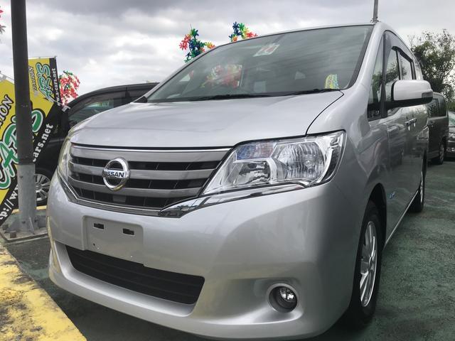 沖縄の中古車 日産 セレナ 車両価格 109万円 リ済込 平成24年 6.9万km シルバーM