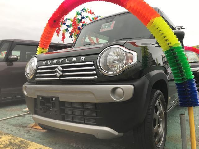 沖縄の中古車 スズキ ハスラー 車両価格 109万円 リ済込 平成29年 0.9万km DグリーンM