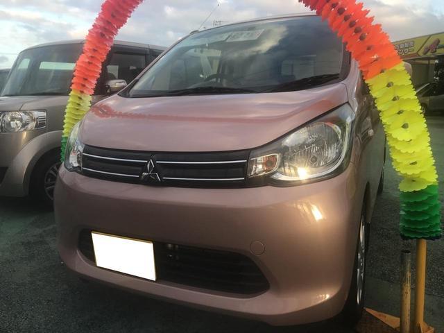 沖縄の中古車 三菱 eKワゴン 車両価格 64万円 リ済込 平成25年 3.9万km ピンクM