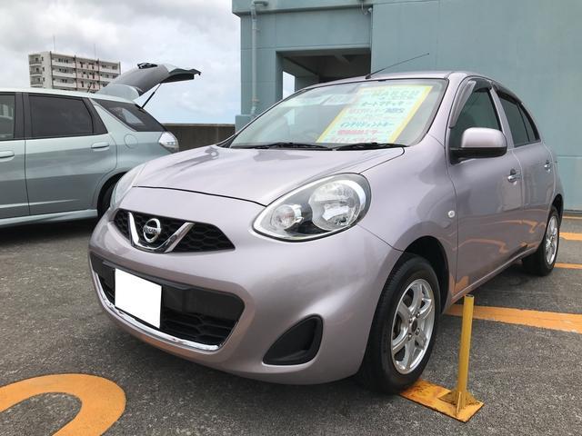 沖縄の中古車 日産 マーチ 車両価格 64万円 リ済込 2013(平成25)年 3.3万km クリスタルライラックTPM