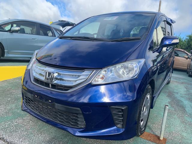 沖縄の中古車 ホンダ フリードハイブリッド 車両価格 119万円 リ済込 2012(平成24)年 5.3万km ブルーM
