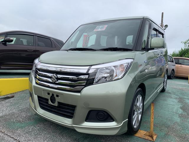沖縄の中古車 スズキ ソリオ 車両価格 129万円 リ済込 2016(平成28)年 3.6万km グリーングレーM
