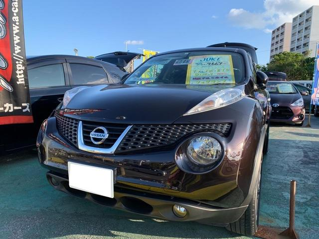沖縄の中古車 日産 ジューク 車両価格 124万円 リ済込 2014(平成26)年 1.0万km ワインM