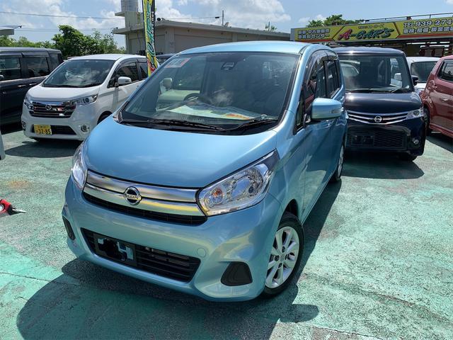 沖縄の中古車 日産 デイズ 車両価格 85万円 リ済込 2017(平成29)後 2.2万km ブルーM