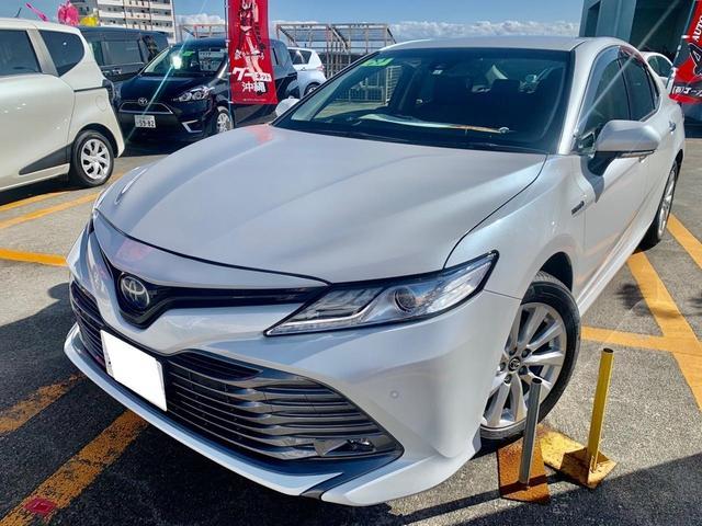 沖縄の中古車 トヨタ カムリ 車両価格 288万円 リ済込 2019(令和1)年 2.0万km パールM