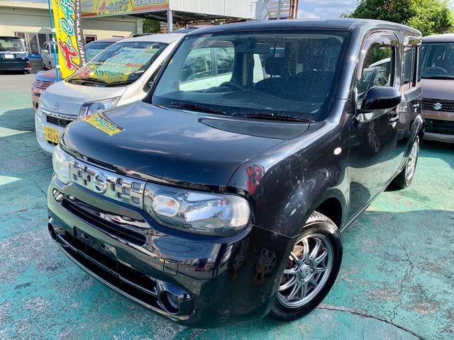 沖縄の中古車 日産 キューブ 車両価格 49万円 リ済込 2012(平成24)年 8.5万km ブラックM