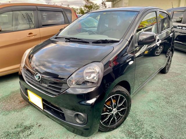 沖縄の中古車 ダイハツ ミライース 車両価格 55万円 リ済込 2016(平成28)年 8.2万km DブラックM