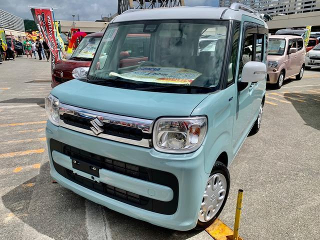 沖縄県沖縄市の中古車ならスペーシア ハイブリッドX 2トーンカラー LEDヘッドライト 全方位カメラ・アラウンドビューモニター 両側パワースライドドア Bluetoothオーディオ・TV・ナビ リヤセンサー シートヒーター