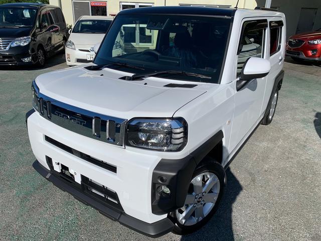 沖縄県の中古車ならタフト G 新車 9インチディスプレーイオーディオ バックモニター メッキパック ワイヤレス充電器・置くだけ充電 フロアマット ワイドバイザー