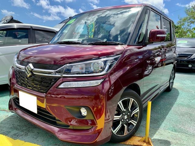沖縄の中古車 スズキ ソリオバンディット 車両価格 158万円 リ済込 2019(令和1)年 2.6万km ダークレッドM