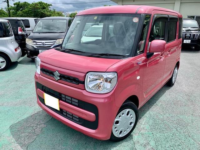 沖縄の中古車 スズキ スペーシア 車両価格 135万円 リ済込 2021(令和3)年 5km ピンクM
