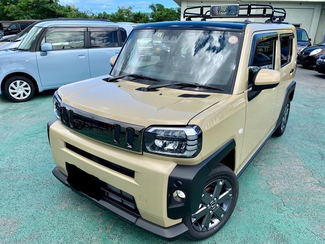 沖縄の中古車 ダイハツ タフト 車両価格 185万円 リ済込 2021(令和3)年 6km ライトゴールドM