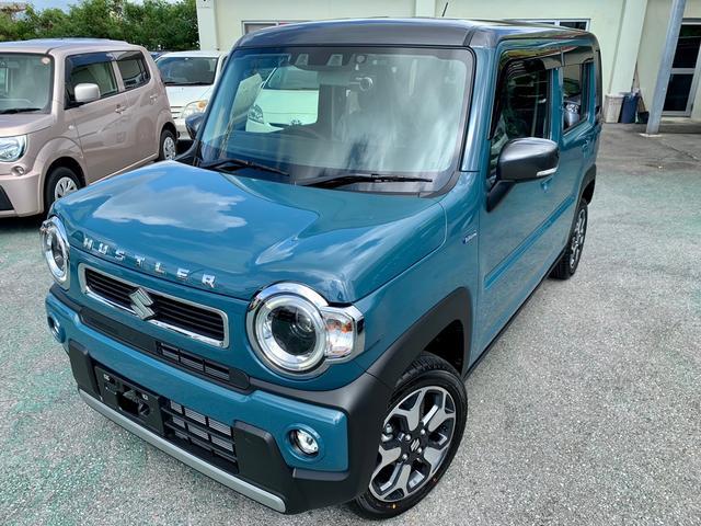 沖縄の中古車 スズキ ハスラー 車両価格 166万円 リ済込 2021(令和3)後 9km 紺II