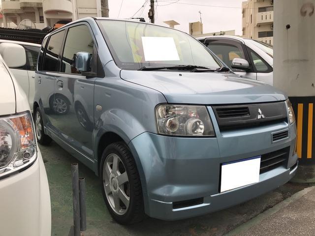 沖縄の中古車 三菱 eKスポーツ 車両価格 9万円 リ済込 2004(平成16)年 13.6万km ライトブルーメタリック