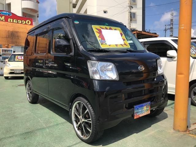沖縄の中古車 ダイハツ ハイゼットカーゴ 車両価格 36万円 リ済別 2013(平成25)年 16.9万km ブラック