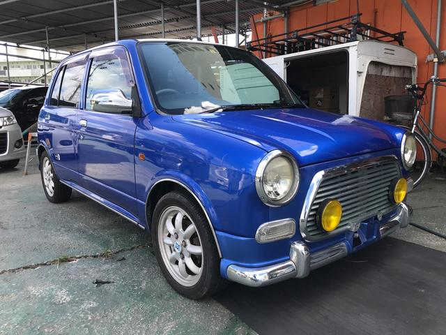 沖縄県の中古車ならミラジーノ ミニライトスペシャルターボ 4AT 社外グリル フォグ ミニライトアルミ センターマフラー