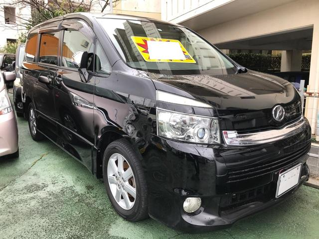 沖縄の中古車 トヨタ ヴォクシー 車両価格 49万円 リ済別 2007(平成19)年 5.0万km ブラック