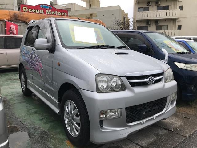 沖縄県の中古車ならテリオスキッド カスタムL インタークーラーターボ 純正エアロ 純正アルミ AT