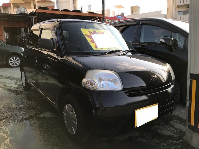 沖縄の中古車 ダイハツ エッセ 車両価格 12万円 リ済別 2009(平成21)年 6.6万km ブラックマイカ