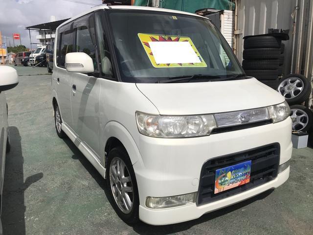 沖縄県の中古車ならタント カスタムRS インタークーラーターボ 純正オーディオ 純正アルミ ウインカーミラー