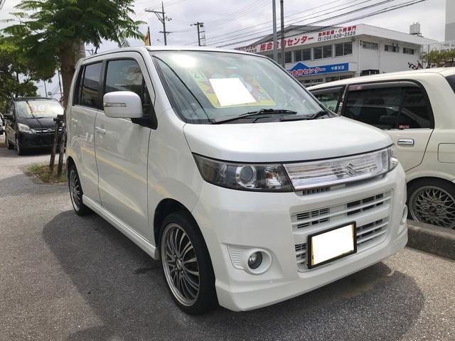 沖縄県の中古車ならワゴンRスティングレー T インタークーラーターボ スマートキー プッシュスタート 社外アルミ