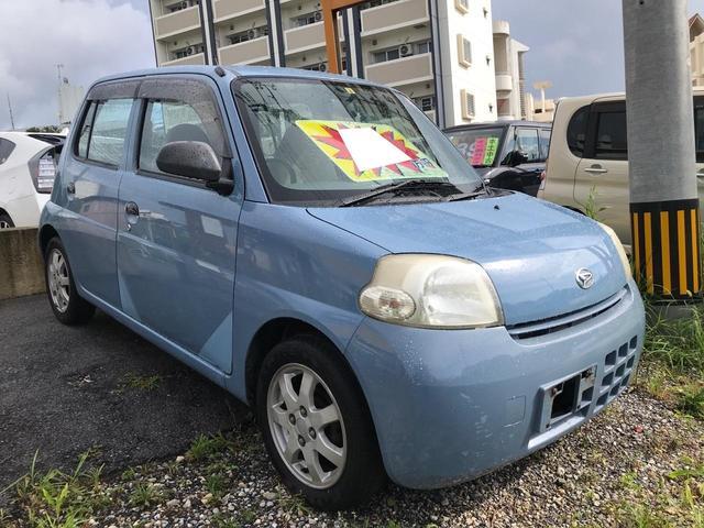 沖縄の中古車 ダイハツ エッセ 車両価格 9万円 リ済別 2006(平成18)年 10.3万km シーブルー