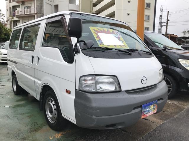 沖縄市 BESTオートサービス マツダ ボンゴバン  5MT 2名乗り 両側スライドドア ガソリン フル装備 後輪Wタイヤ ホワイト 10.5万km 2013(平成25)年