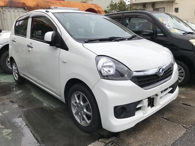 沖縄の中古車 ダイハツ ミライース 車両価格 29万円 リ済別 2015(平成27)年 10.2万km ホワイト