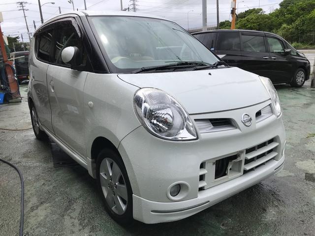 沖縄の中古車 日産 モコ 車両価格 19万円 リ済別 2008(平成20)年 5.7万km スノーパールホワイト
