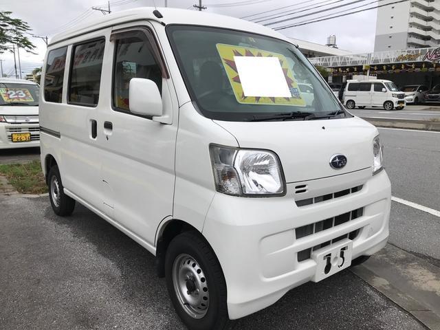 沖縄の中古車 スバル サンバーバン 車両価格 39万円 リ済別 2012(平成24)年 12.6万km ホワイト