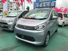 沖縄の中古車 三菱 eKワゴン 車両価格 62万円 リ済別 平成26年 4.4万K シルバー