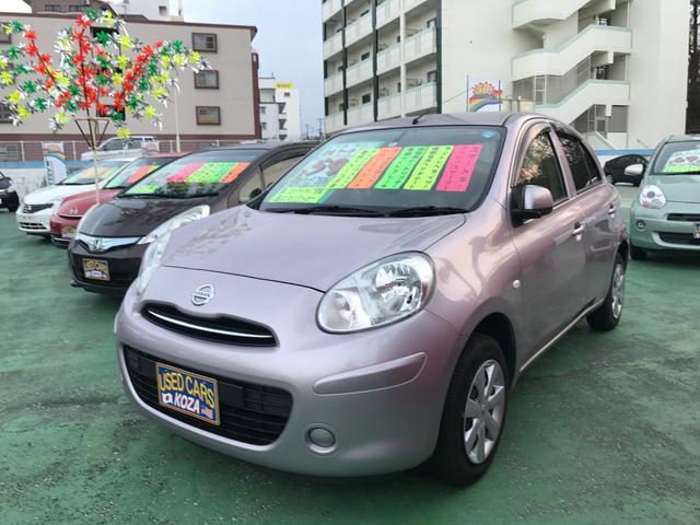 沖縄の中古車 日産 マーチ 車両価格 53万円 リ済別 平成24年 8.1万km ピンク