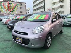 沖縄の中古車 日産 マーチ 車両価格 59万円 リ済別 平成24年 8.1万K ピンク
