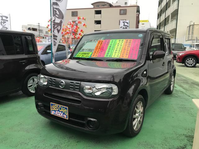 沖縄の中古車 日産 キューブ 車両価格 59万円 リ済別 平成26年 8.2万km ビターショコラP