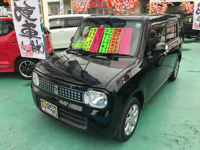 沖縄の中古車 スズキ アルトラパン 車両価格 59万円 リ済別 平成25年 11.4万km ブルーイッシュブラックパール3