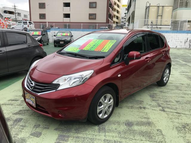 沖縄の中古車 日産 ノート 車両価格 69万円 リ済別 平成26年 5.0万km ラディアントレッドPM