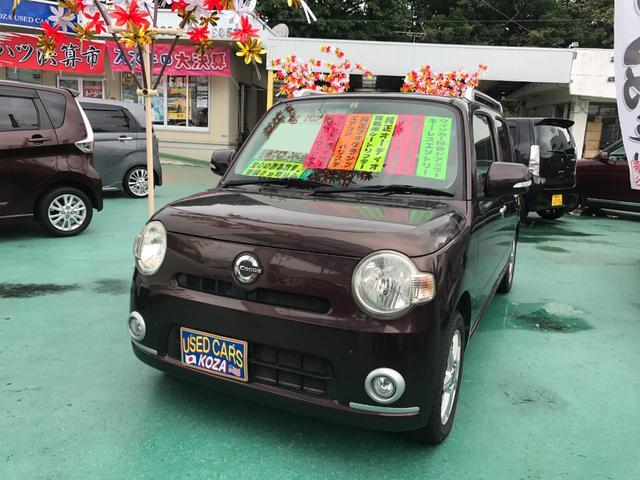 沖縄の中古車 ダイハツ ミラココア 車両価格 43万円 リ済別 平成22年 11.5万km プラムブラウンクリスタルマイカ
