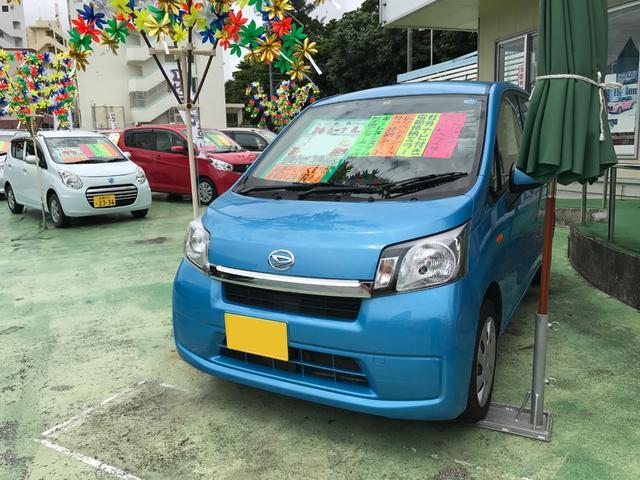 沖縄の中古車 ダイハツ ムーヴ 車両価格 52万円 リ済別 2014(平成26)年 8.4万km ブルー