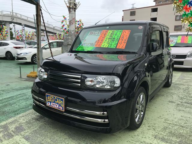 沖縄県の中古車ならキューブ ライダー ブラックライン 純正ナビTV