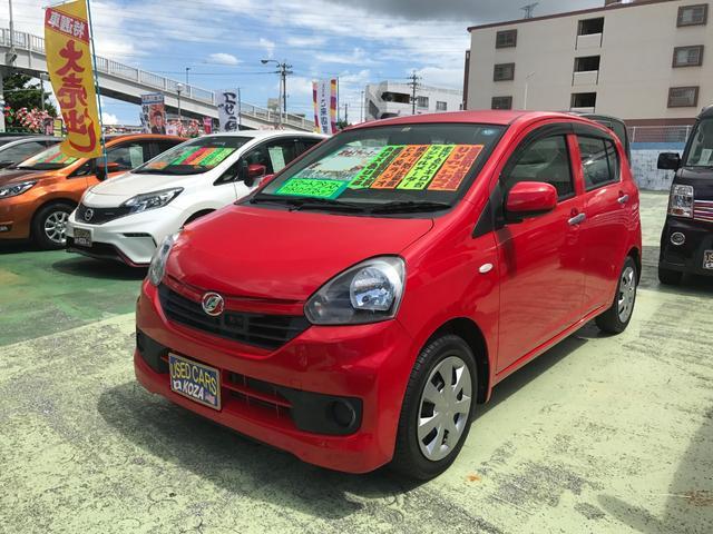 沖縄の中古車 ダイハツ ミライース 車両価格 53万円 リ済別 2014(平成26)年 6.6万km レッド