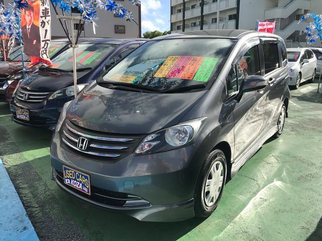 沖縄の中古車 ホンダ フリード 車両価格 54万円 リ済別 2009(平成21)年 9.7万km グレー