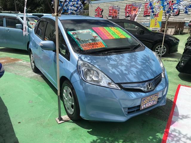 沖縄県の中古車ならフィットハイブリッド スマートセレクション 社外ナビTV