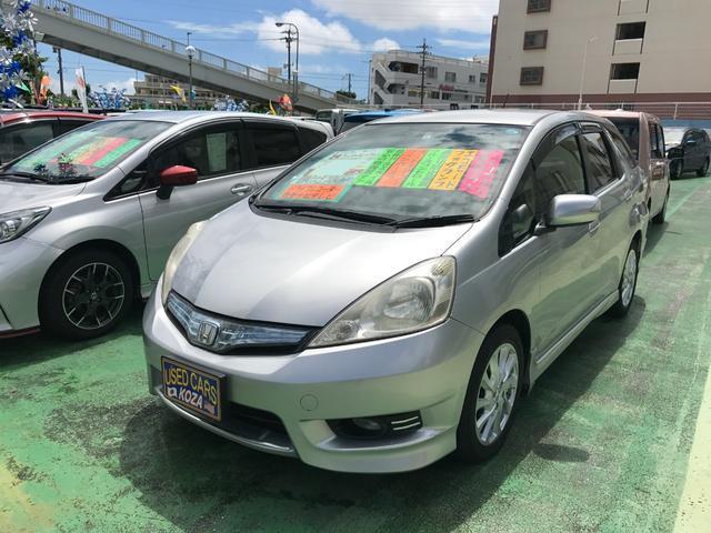沖縄県沖縄市の中古車ならフィットシャトルハイブリッド ハイブリッド 社外ナビTV ドライブレコーダー