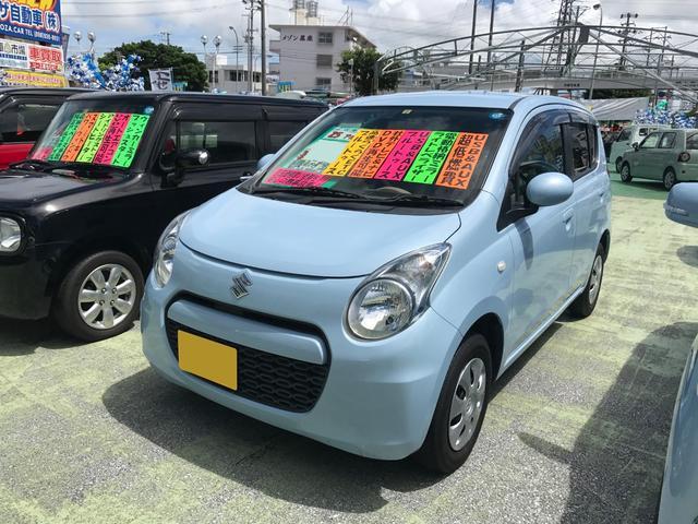 沖縄の中古車 スズキ アルト 車両価格 39万円 リ済別 2013(平成25)年 9.6万km ライトブルー